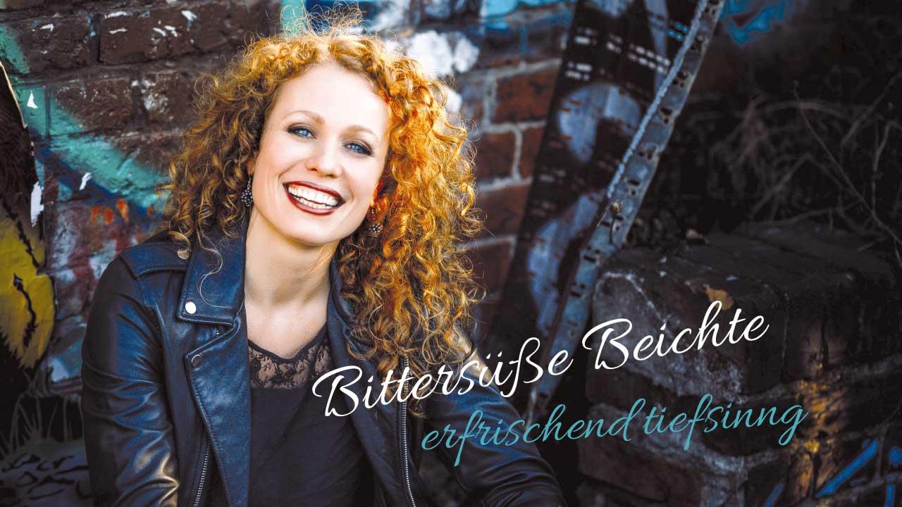 Caroline Bungeroth Programmplakat Bittersüße Beichte