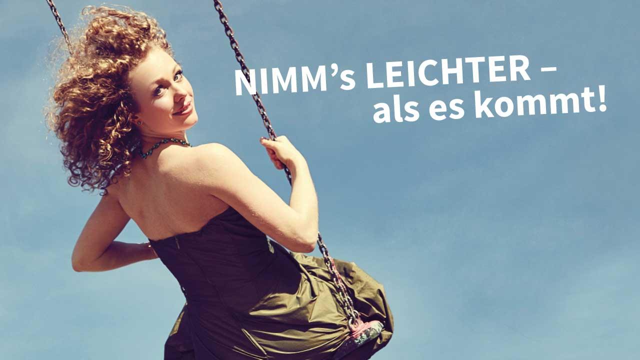 Caroline Bungeroth Programmplakat Nimm's leichter - als es kommt